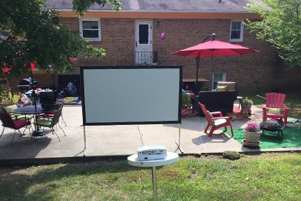 Outdoor Party Projector